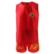 Unisex Kung Fu Boxing Martial Arts Muay Thai Mma Vest Shorts Clothes Uniform New