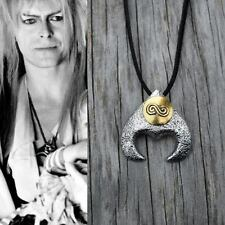 Labyrinth Costume Necklace Goblin King David Bowie Movie Jareth 27 Black Leather