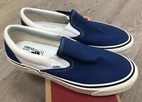 Vans Classic Slip On 9 Anaheim Factory OG Blue Sz 12 NIB