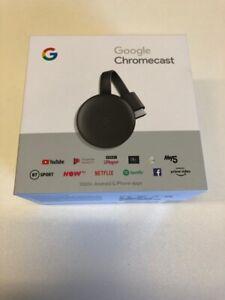 Google Chromecast (3rd Generation) Media Streamer - Black BOXED