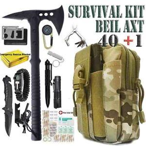 Taktische Notfall Getriebe Tomahawk Beil Axt Set Outdoor Camping Survival Kit