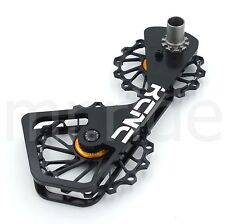 KCNC Road Bike 14/16t Pulley Wheel Kit for Shimano DuraAce/Ultegra Black