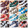 10pcs Assorted Shapes Lampwork Glass Jewelry Making Charms Loose Spacer Beads