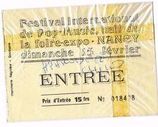 Ticket du festival de pop Nancy 71 autographé par Demis ROUSSOS, MARTIN CIRCUS