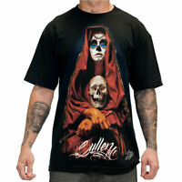 Sullen Men's Acuna Badge Short Sleeve T Shirt Black   Hip Hop Skull Clothing App