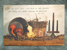 John 4 : 35 Bible Verse Canvas Sign Picture Country Billy Jacobs Candles
