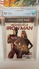 Invincible iron man 7 CBCS 9.8 1st Riri Williams (cameo) Ironheart