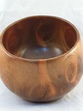 Hawaiian Carved Kou Wood Calabash Bowl Old Hawaiiana