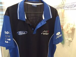 Ford Racing Team Adult Polo Large All Logos