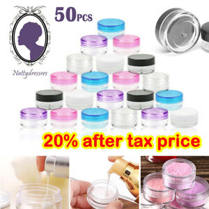 50X Durable Plastic Sample Mini Small Bottle Container Pot Jar Cosmetic Tool 5ml