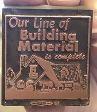 Vintage Wood & Metal Printing Print Block Stamps,Our Line of Building Material