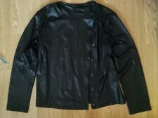 Sexy Ladies Thin Wet Leather Look Jacket Size S