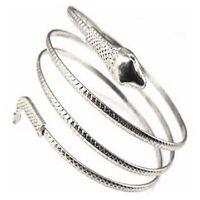 Coiled Snake Bracelet Bangle Anklet Upper Armlet Goth Rock Punk Band Egyptian Re
