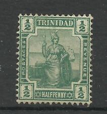 Trinidad 1909, Sg 146, 1/2d Green, No gum, Lightly Mounted Mint [926]