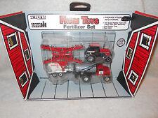 1987 Ertl 1:64 Farm Toys Fertilizer Set Case 2594 Tractor Wagon Truck Disc Barn
