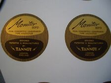 "Tannoy 15"" HPD Magnet Cover Stickers (not original Tannoy) one pair"