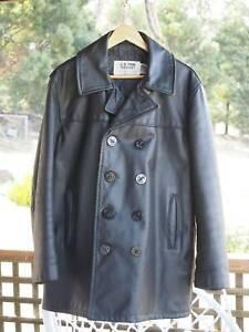 Schott Leather Pea Coat