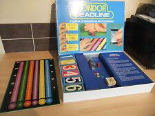 CONDOR termine Board Game RARE RETRO gioco di domande e risposte 1970 S in buonissima condizione
