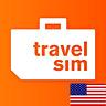 Prepaid TravelSim Sim Karte für USA (SMS/Tel. & Daten) mit 15 € (1 MB - 0.015 €)