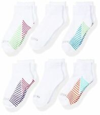 Fruit of the Loom Girls Value Pack 6 Pack with Arch Support Ankle Socks  4-10 L