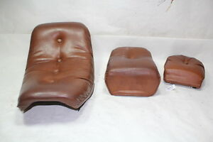 Harley FXR seats + passenger backrest BROWN FXRC FXRT FXRP FXRD FXRS EPS20136