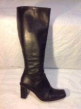 Fine Italian Collection Black Knee High Leather Boots Size 5.5