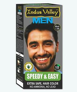Indus Valley Speedy and Easy Hair Colour For Men Organic Hair Color (Black 1.0)