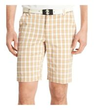 Izod Mens Plaid Golf Athletic Workout Shorts
