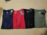 NWT Hollister Long Sleeve Woman Henley T-Shirt M or L 4 Colors Available