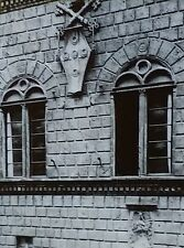 Palazzo Piccolomini del Governo Exterior Detail, Siena,Magic Lantern Glass Slide
