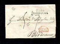 """Hamburg 1834 - """"T.T.R4 - Hambourg"""" nach Frankreich   (#7565)"""