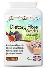 Dietary Multi Fibre Complex x 100 Capsules Psyllium Flaxseed Fenugreek Fennel