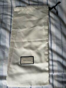 Gucci Silk Like Ivory Drawstring Dust Travel Bag 45cm x 21cm