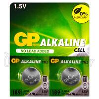 2 x GP Alkaline 189 batteries 1.5V LR54 AG10 389A LR1130 A120 Button cell