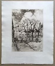 Gravure Eau-Forte Paysage Montmartre Paris André Andor de Szekely (1877-1945)