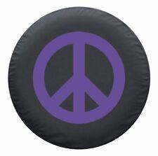 "29"" Peace Sign Tire Cover - Purple - Jeep Wrangler TJ - USA"