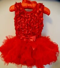 Brand New Infants Red Rosette Popatu TUTU  Dress  w/ Tags - 12 Months