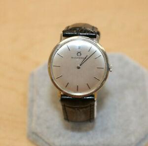 Vintage Bucherer Winding Mens Wristwatch 10 177R *Working*  NO RESERVE