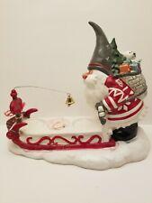 Blue Sky Clayworks Christmas Santa Gnome Sled Olaf Delivery Tealight Holder 2018