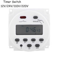 CN101A 12V-220V LCD Digital Weekly Programmable Power Timer Time Relay Switch