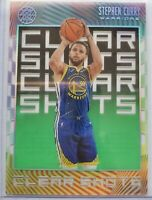 2019-20 Panini Illusions Stephen Curry Clear Shots Emerald Parallel #9 Warriors