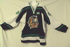 vintage North Dakota Sioux black white university hockey jersey M Colosseum 1992
