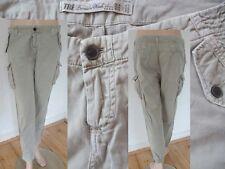 TRF Zara Hose Girl Chino Pant Cargo Aladinhose 7/8 Länge beige 38 M 1A