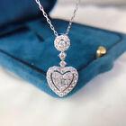 Heart Shaped Cubic Zirconia Women Wedding Jewelry 925 Silver Necklaces Pendants