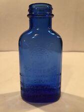 """Vintage Phillips Milk of Magnesia Cobalt Blue Bottle 5"""" Medicine Bottle Mb-0156"""