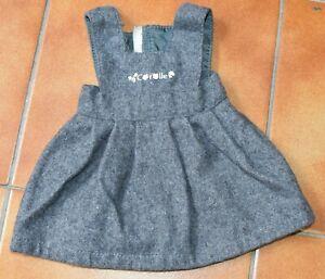 robe chasuble en lainage gris pour poupée Corolle 36 cm 2001