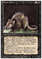 4x Plague Rats MTG 3rd Edition / Revised NM Magic Regular