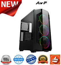 AvP Opius Mid Tower Gaming Case With Acrylic Front Panel Tempered Glass Side