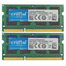 Crucial 8GB 2X4GB DDR3 1333MHZ PC3-10600 204pin portátil Memoria ram sodimm no ecc
