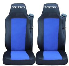2x Seat Covers for VOLVO FH12 FH16 FL FM Tailored HGV Truck Lorry Black/Blue